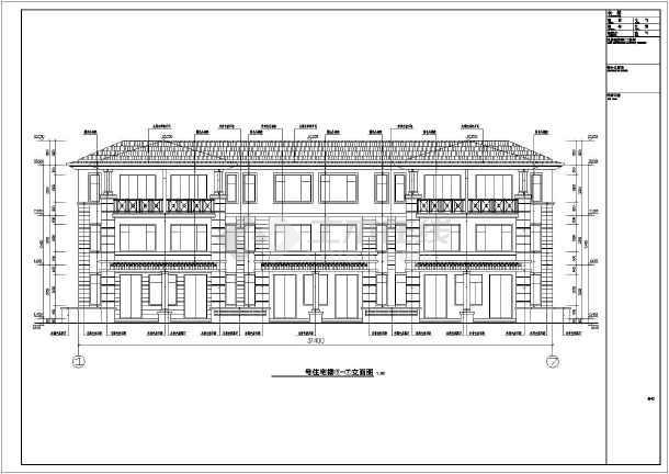 三层框架结构欧式别墅设计全套图纸三层联排别墅设计