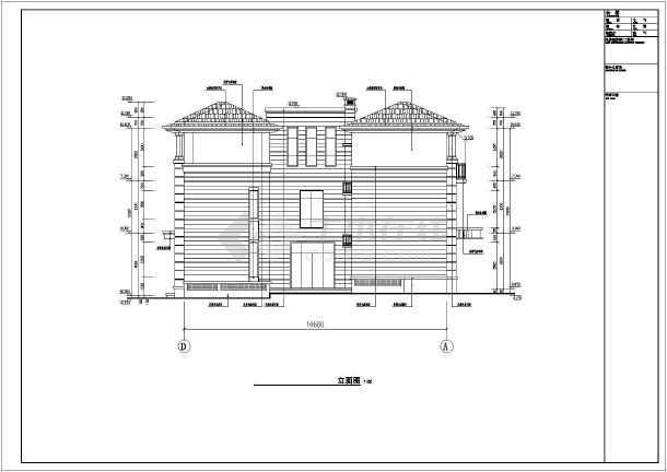 南方某地三层框架结构联排别墅设计方案图纸