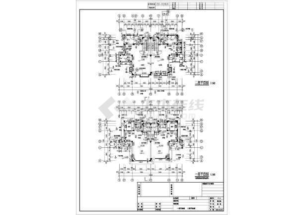 安徽省巢湖3层光谷别墅别墅建筑设计施工图一路结构框架图片