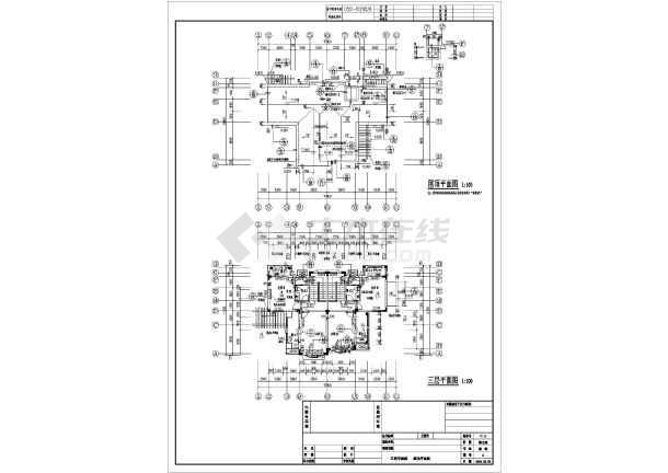 安徽省巢湖3层框架别墅结构建筑设计施工图预制建筑别墅图片