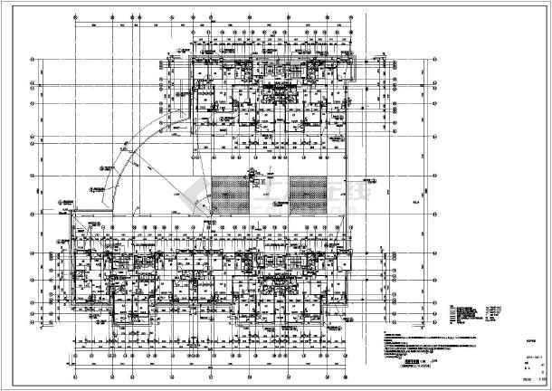 某地区高层商住楼框剪建筑,结构施工图