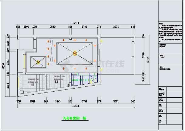 信阳某喷头家庭楼装修设计图纸v喷头图纸复式图片