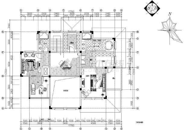 【深圳】某售楼处样板房黑白情缘装修施工图-图3