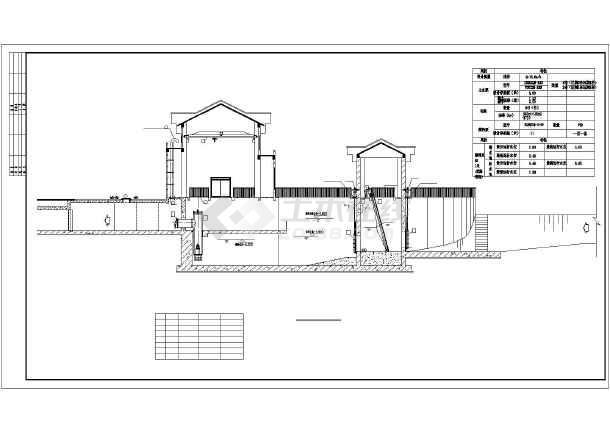 某地18立方米每秒雨水排涝泵站施工图纸图片