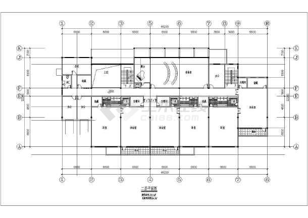 本资料为:【江苏】某乡镇幼儿园建筑设计图纸,内含:平面图,立面图