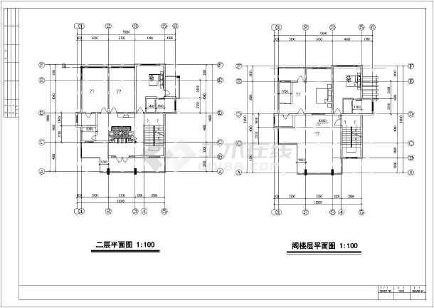 00米 宽14.60米农村自建房别墅建筑结构设计图片