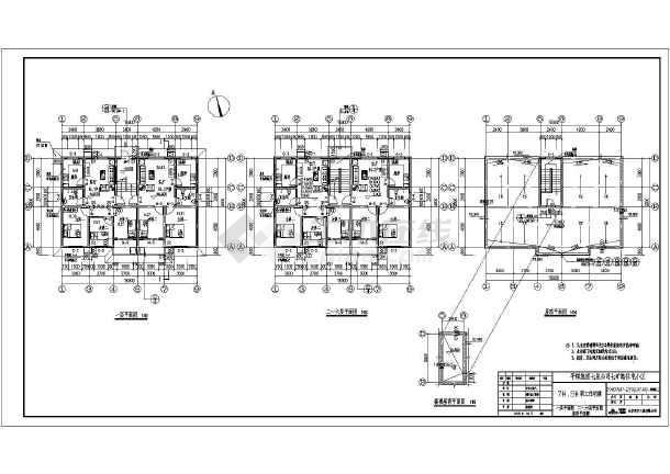 某六层一梯两户小区住宅楼建筑施工图