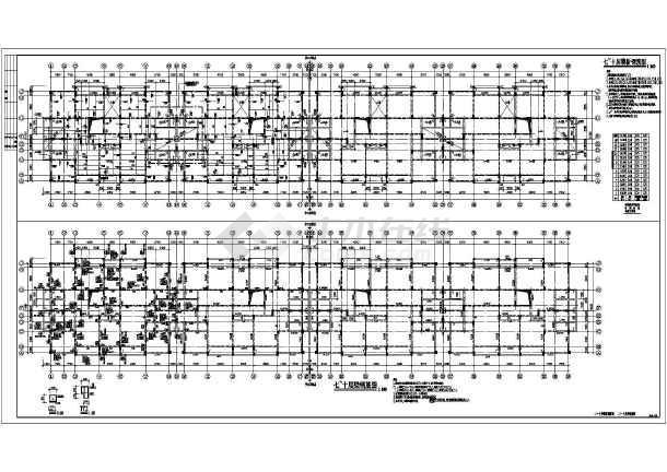 梁钢筋图,模板钢筋图,屋顶层模板钢筋图,屋顶层梁钢筋图,结构节点大样