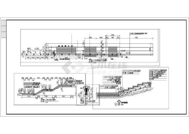 花钵立面图,台阶剖面图