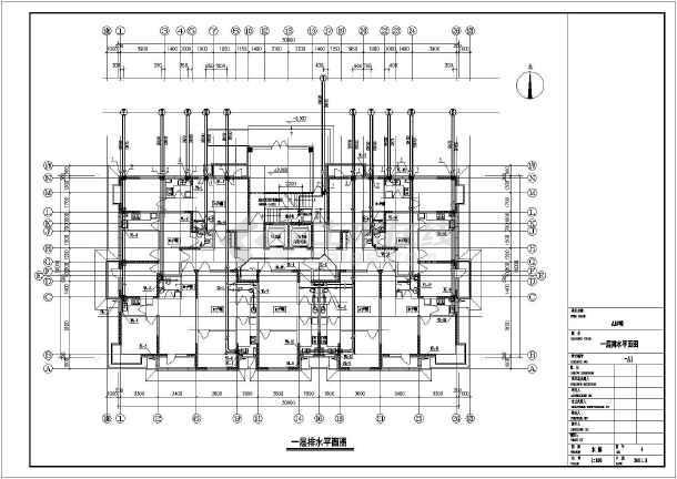 某地18层剪力墙结构塔式高层住宅给排水施工图图片