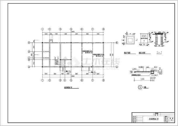 某地一层混合结构房屋建筑设计施工图