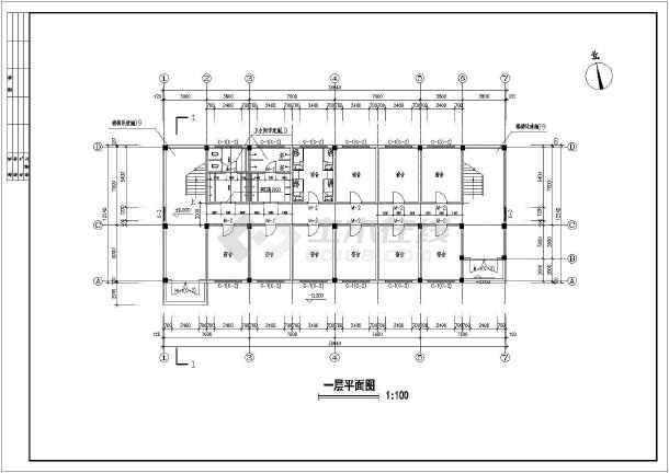某学校五层学生宿舍楼建筑设计方案图