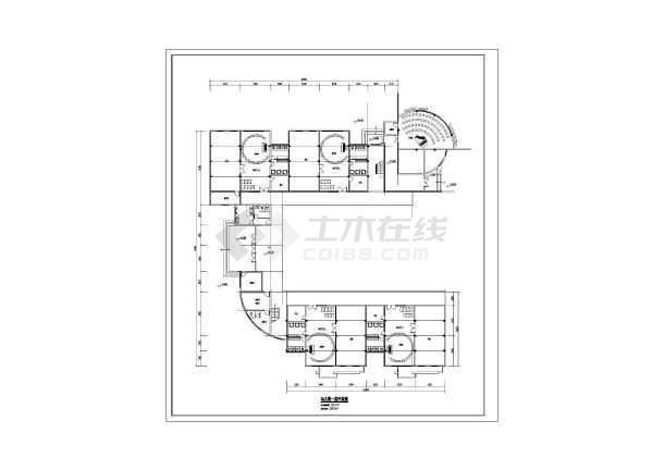 某地3层框架结构8个班幼儿园建筑方案设计图