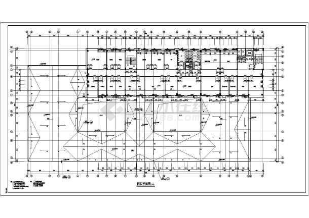安徽某地五层卫生院综合楼建筑设计方案图纸高清图片