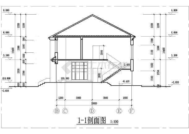 某别墅自建农村图建筑平面施工图及v别墅方案别墅园园枫图片