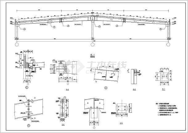 上海某混凝土柱钢结构图纸v图纸食物_cad图纸拼豆大全5mm图纸屋顶图片