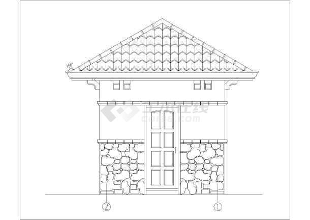 简欧式小区门卫室图纸建筑施工景观_cad意思中ch建筑什么图纸详图图片