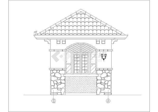 简欧式详图门卫室景观建筑施工小区_cad图纸1s乐视图纸图片