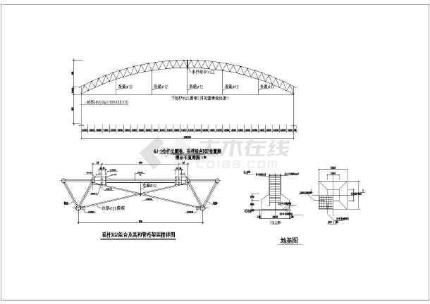 某地单层钢结构厂房结构施工图(桁架屋盖)