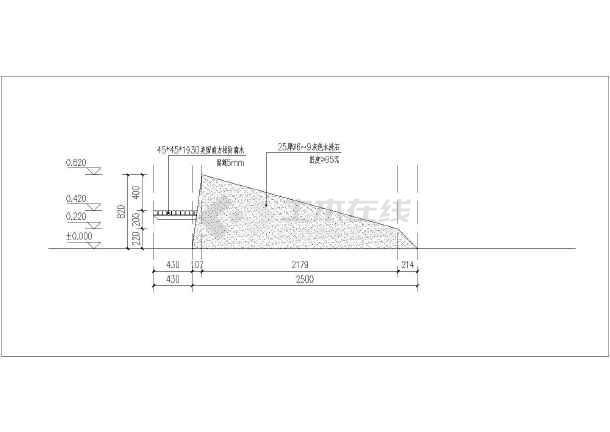 一个图纸景观斜坡树池的完整v图纸异形_cad图csh字体cad图片