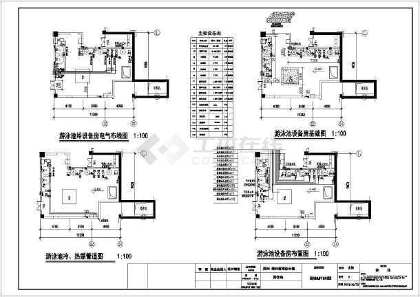 郑州某室内四季恒温泳池工程设计图