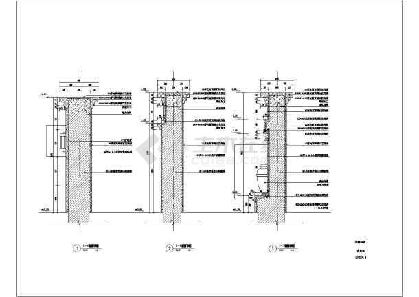 标志性建筑图景墙施工图镂空景墙施工图景墙施工图cad中式景墙施工图图片
