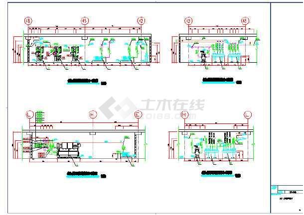 图纸 暖通设计图 中央空调 空调制冷机房设计图 地源热泵机房设备剖面