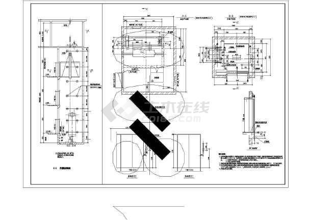 某地电梯井道结构施工图