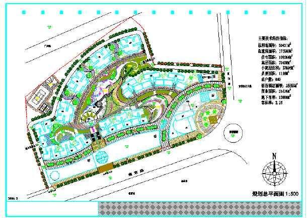 【上海市】某综合小区详细规划平面图图片1