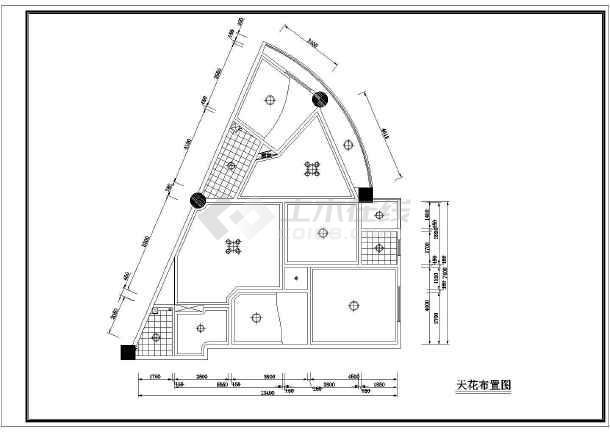 某三角房户型布置设计图(共2张)