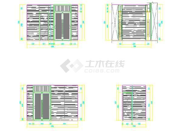 某物业管理机械装修设计施工图(用房)全套v机械优点方案描述图片