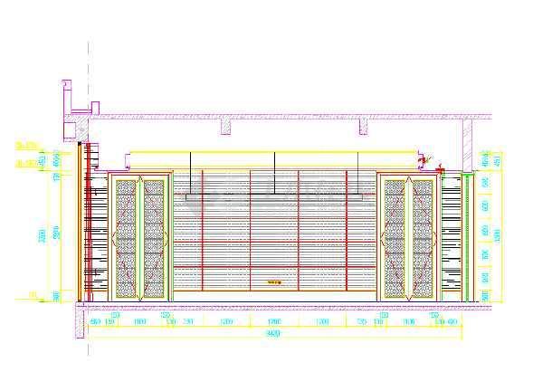 某物业管理用房装修设计施工图(全套)室内装修业v用房图片