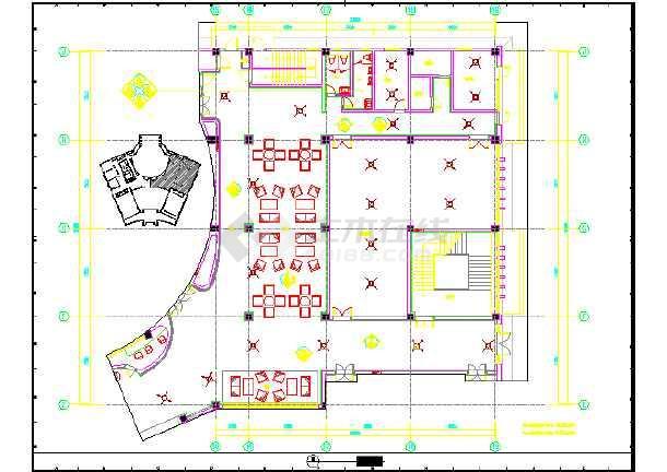 某物业管理全套装修设计施工图(彩色)用房平面设计中标感言图片