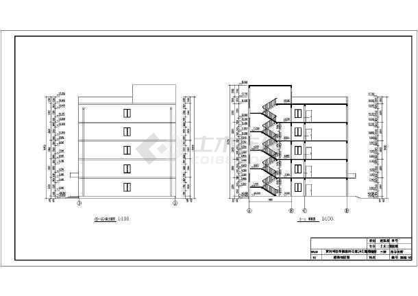 5000平米框架结构教师公寓楼建筑结构图_毕业设计(含计算书)