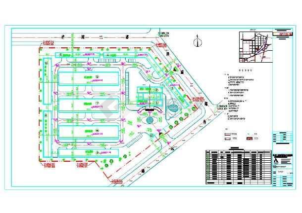 钢结构厂房设计总平面图cad图纸