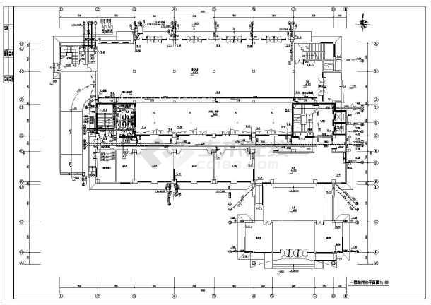 某十五层单位指挥中心建筑给排水施工图图片