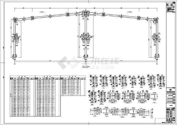 某压缩机厂单层钢结构厂房全套设计施工图-图3