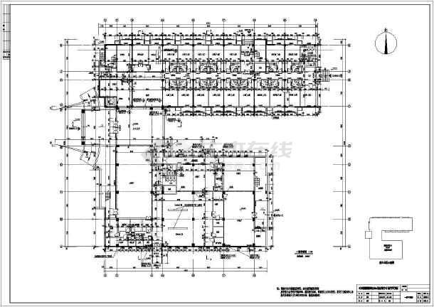 西安五层框剪结构酒店建筑结构施工图