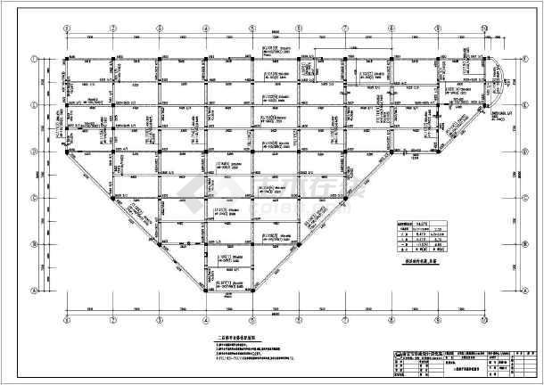 某地三层框架结构商场全套结构施工图
