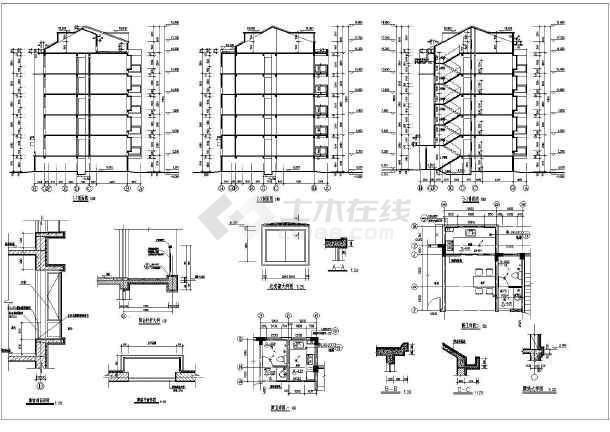某地五层框架结构住宅建筑设计施工图纸