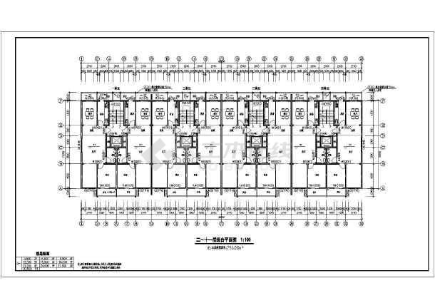 某地11层住宅楼建筑设计方案图(带地下室)_cad图纸