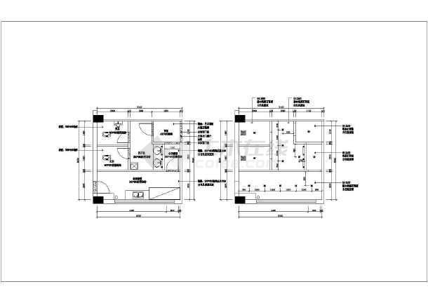 该图纸为苏州框架结构酒店室内装饰工程施工图,包括:一层平面布置图