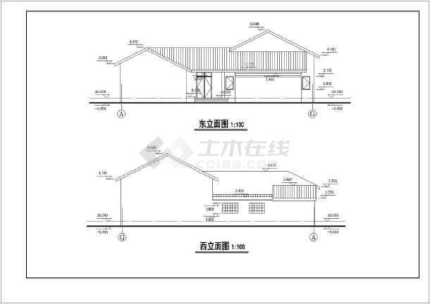 某中式四合院单层别墅建筑方案设计图