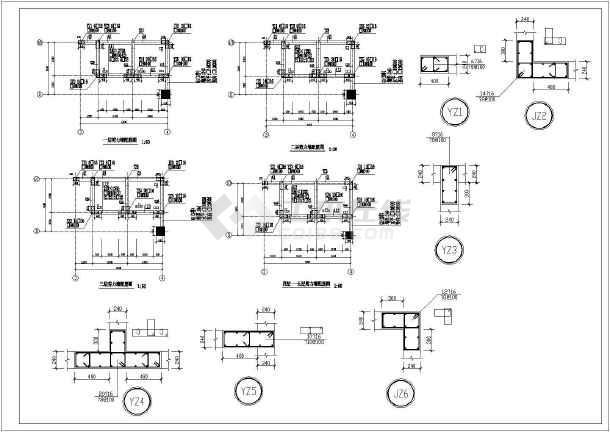 抗震设防烈度六度,结构平面l型,桩基础.图片