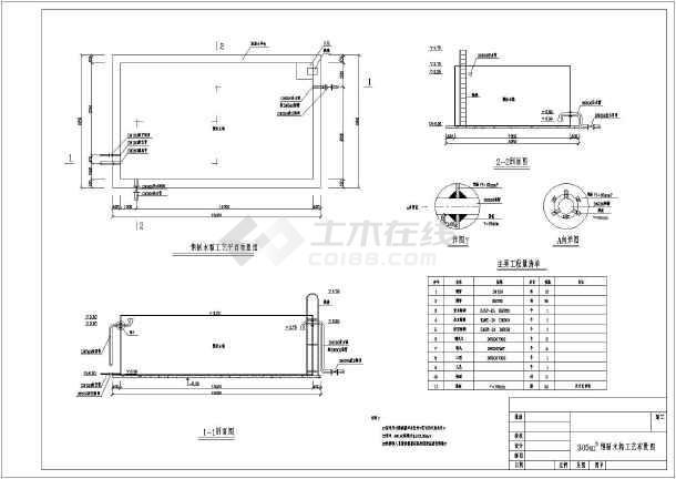 300方钢制做法(非标)露天施工图_cad图纸下载cad图纸停车场水箱图片