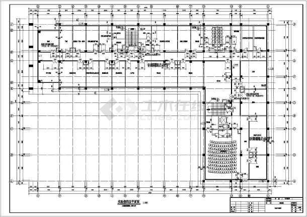 某四层实验楼框架结构 施工图(含建筑设计)
