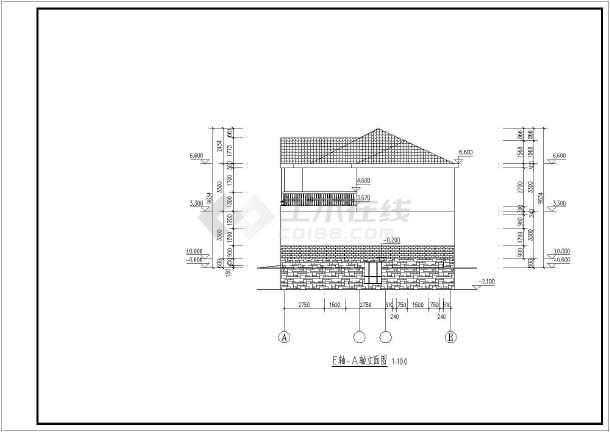 某新农村两层坡屋面别墅建筑设计方案图