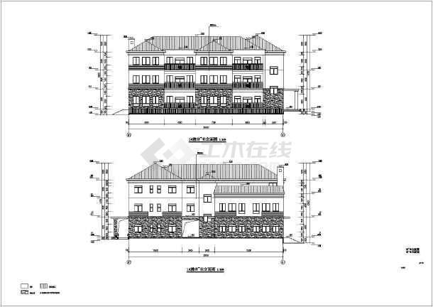 建筑设计说明,建筑各层平面图,屋顶平面图,立面图,剖面图,门窗大样