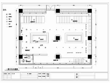 某二层茶室室内装修建筑设计方案图纸