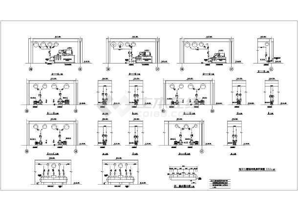 某地空调主机房平面布置施工设计图